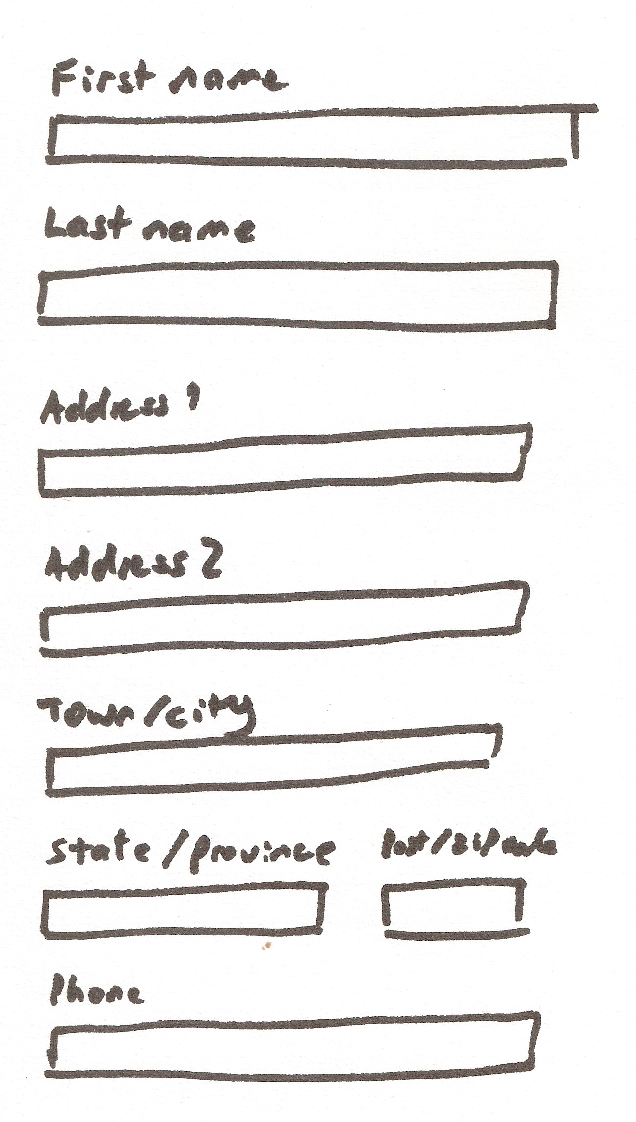 Formsthe compleat guidepart 1 layout and alignment the layout sketch no worries all we need to do is add a div that has the foundation row class for each row of the form and for the row that has two inputs falaconquin